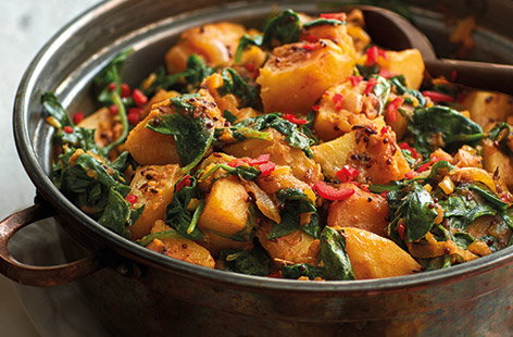 No Indian feast is complete without an array of flavour-packed sides, and this saag aloo recipe is definitely one you'll want to make again and again