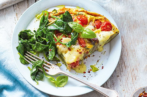 Sausage and tomato frittata