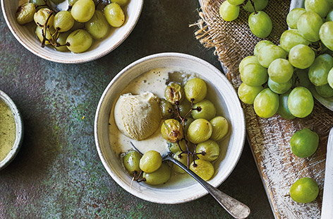 Sherry-roasted grapes