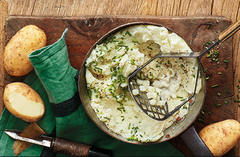 Soured cream and chive mashed potatoes