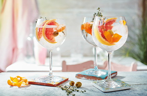 Spanish-style gin and tonic