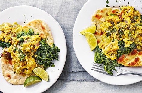 Spiced scrambled eggs