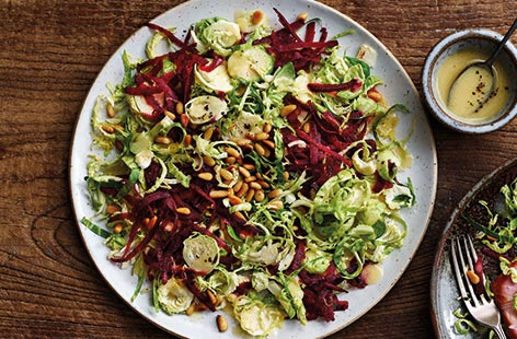 Sprout and beetroot salad