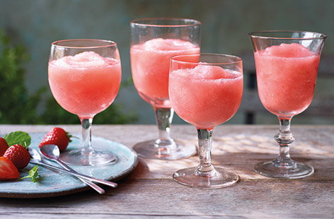 Frosé – it's an Instagram classic all summer long, but it's also super easy to make at home. Blitz fresh strawberries with frozen rosé wine for a sweet grown-up slushie, the perfect summer cocktail for sharing at parties and barbecues.
