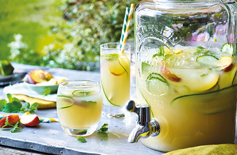 Move beyond plain gin and tonics with this easy gin cocktail that tastes like summer in a bottle. Gin, peach schnapps and apple juice combine for a sweet tipple that is perfect for any summer party.