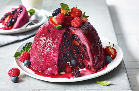 British berry summer pudding