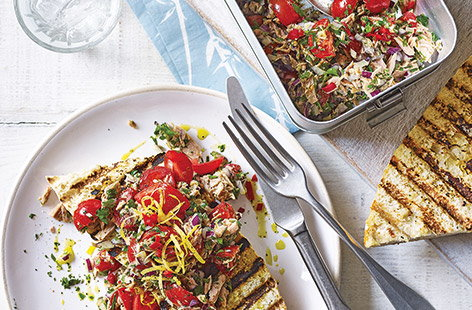 Looking for lunchbox recipe inspiration? Try this easy tuna and tomato toast topper idea that's ready in no time, perfect for packing up and entirely dairy-free