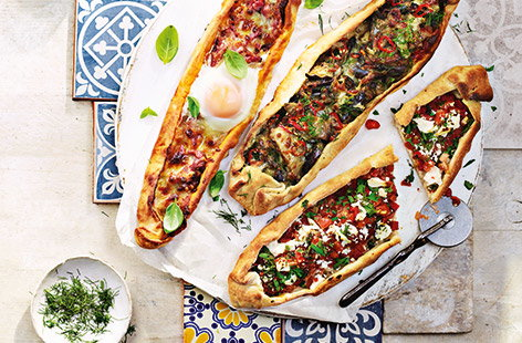 Turkish pizza three ways