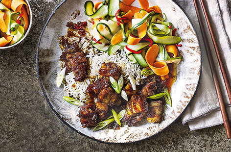 Vietnamese caramel pork with pickled veg