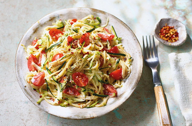 Monday: Courgette, ricotta and chilli spaghetti