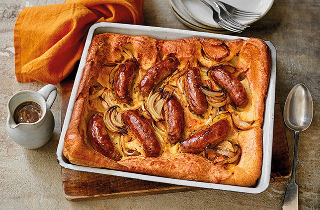 Tuesday: Toad-in-the-hole with onion gravy