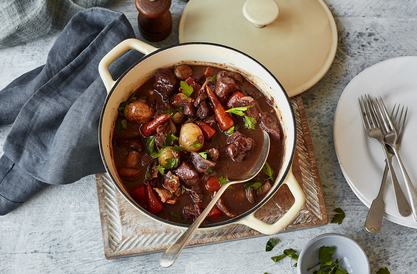 Slow Braised Beef In Red Wine Tesco Real Food