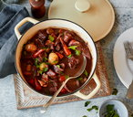 Slow-braised beef in red wine