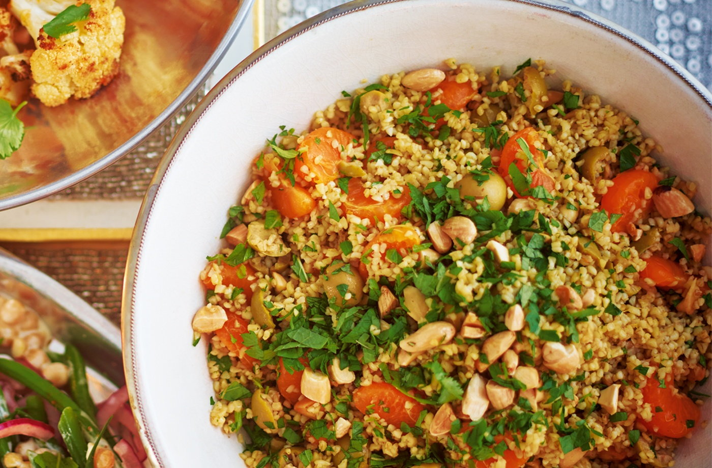 Bulgur wheat, almond and clementine salad recipe