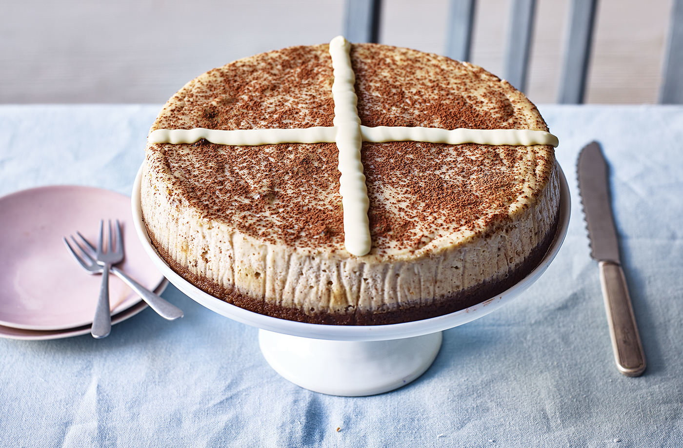 Hot cross bun cheesecake recipe