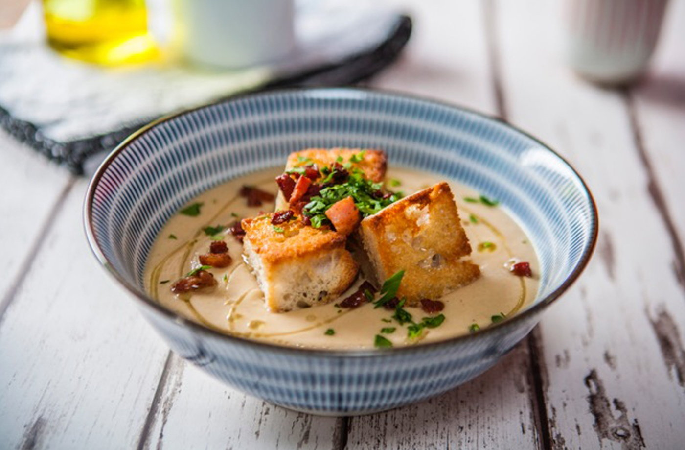 Roasted celeriac and apple soup recipe