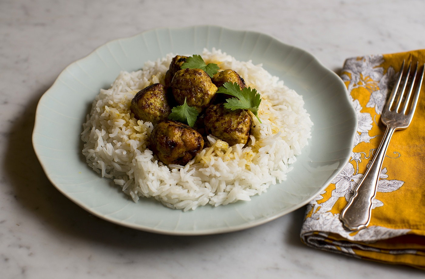 Chicken curry meatballs recipe