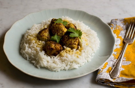 Try this quick and easy chicken curry meatballs dish for a tasty midweek meal