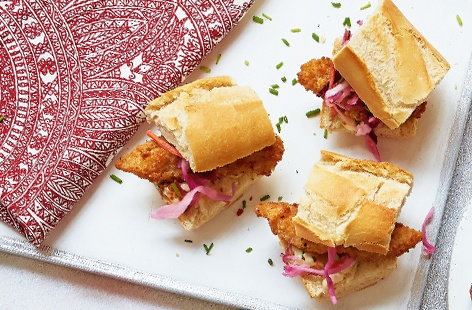 Crispy fish subs