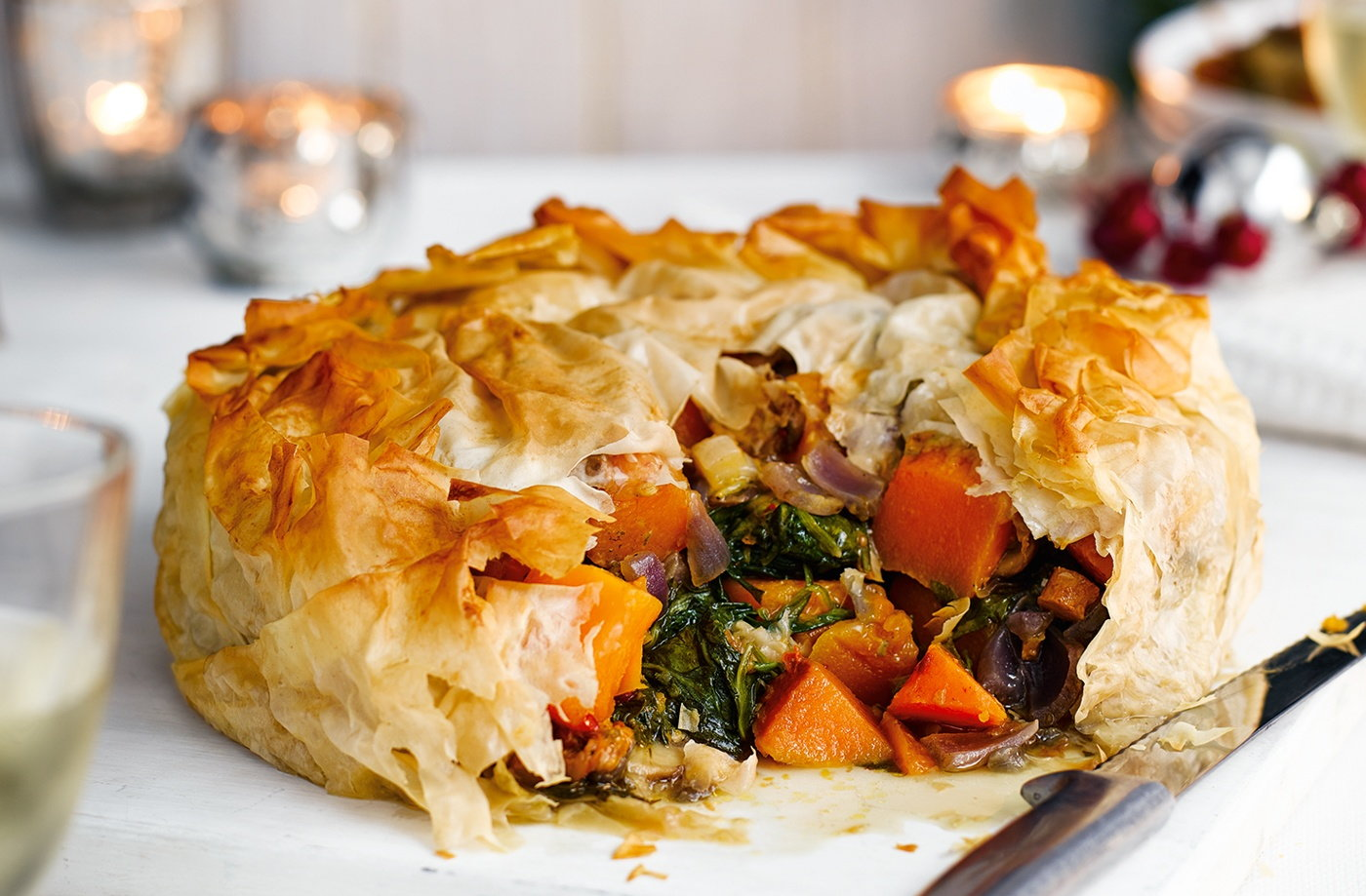 Butternut squash and stilton filo pie recipe butternut squash and stilton pie recipe christmas recipes tesco real food forumfinder