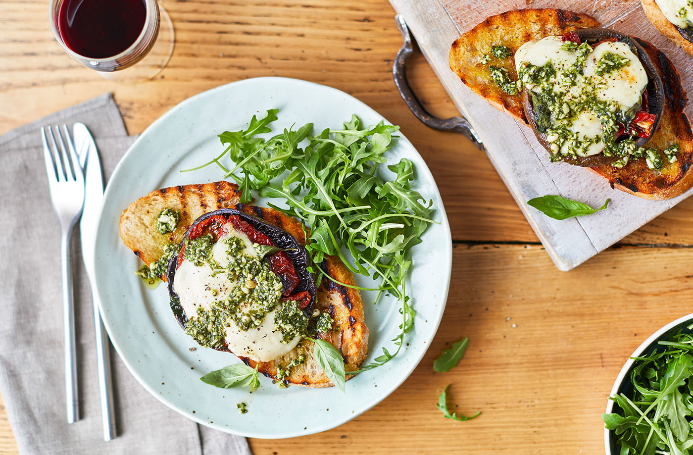 Grilled mushrooms with pesto recipe tesco real food forumfinder Gallery