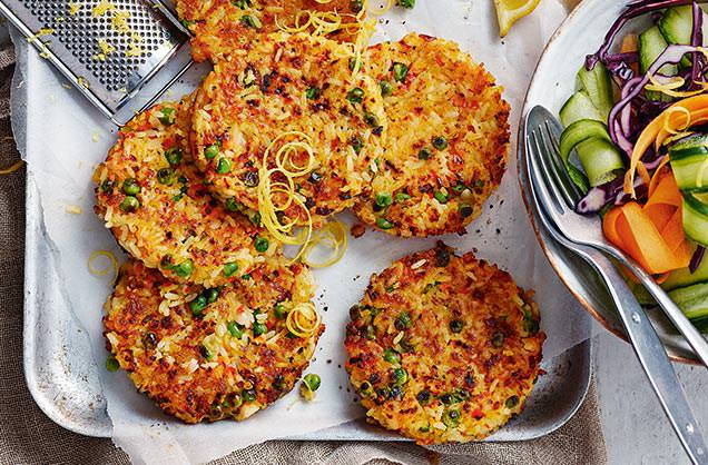 Wednesday: Prawn paella cakes