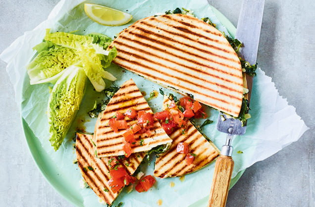 Friday: Barbecued spinach and cheese flatbreads