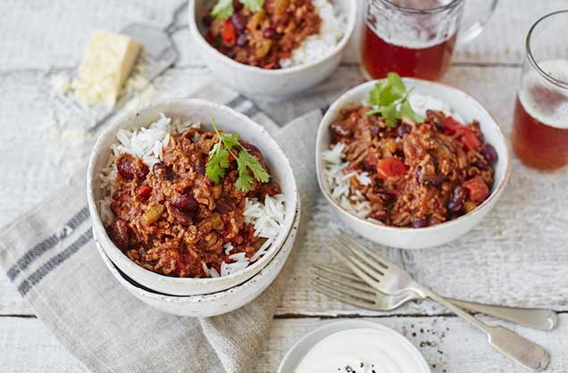 chilli con carne chilli recipe tesco real food. Black Bedroom Furniture Sets. Home Design Ideas