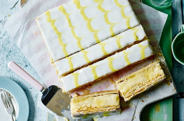Lemon curd custard slices  recipe