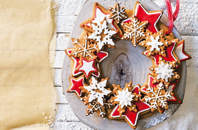 Gingerbread wreath recipe