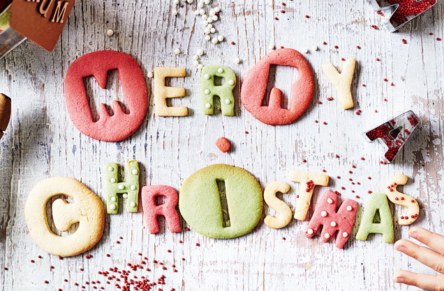 Merry Christmas cookie letters recipe