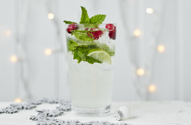 Coconut and cranberry mojito recipe