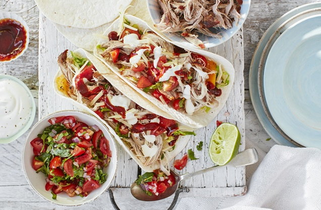 Pulled pork fajitas recipe