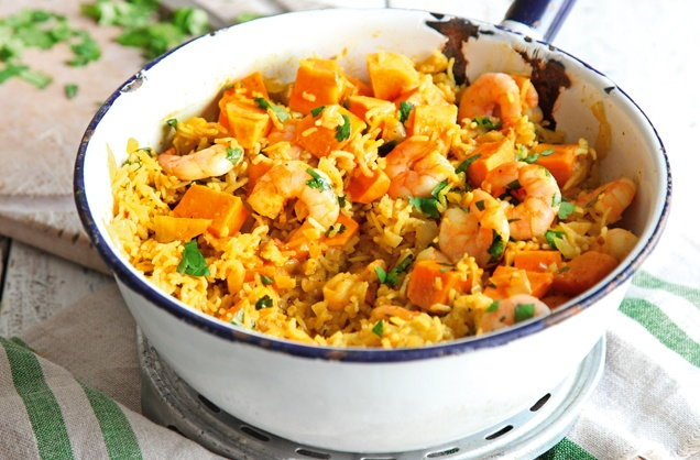 Thai prawn and coconut rice