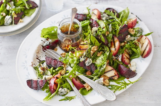 Griddled peach and beetroot salad recipe