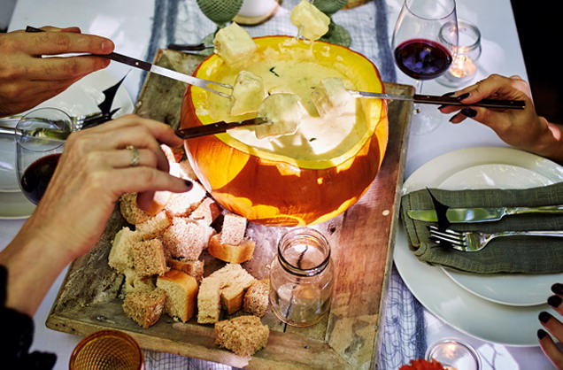 Roasted pumpkin fondue recipe