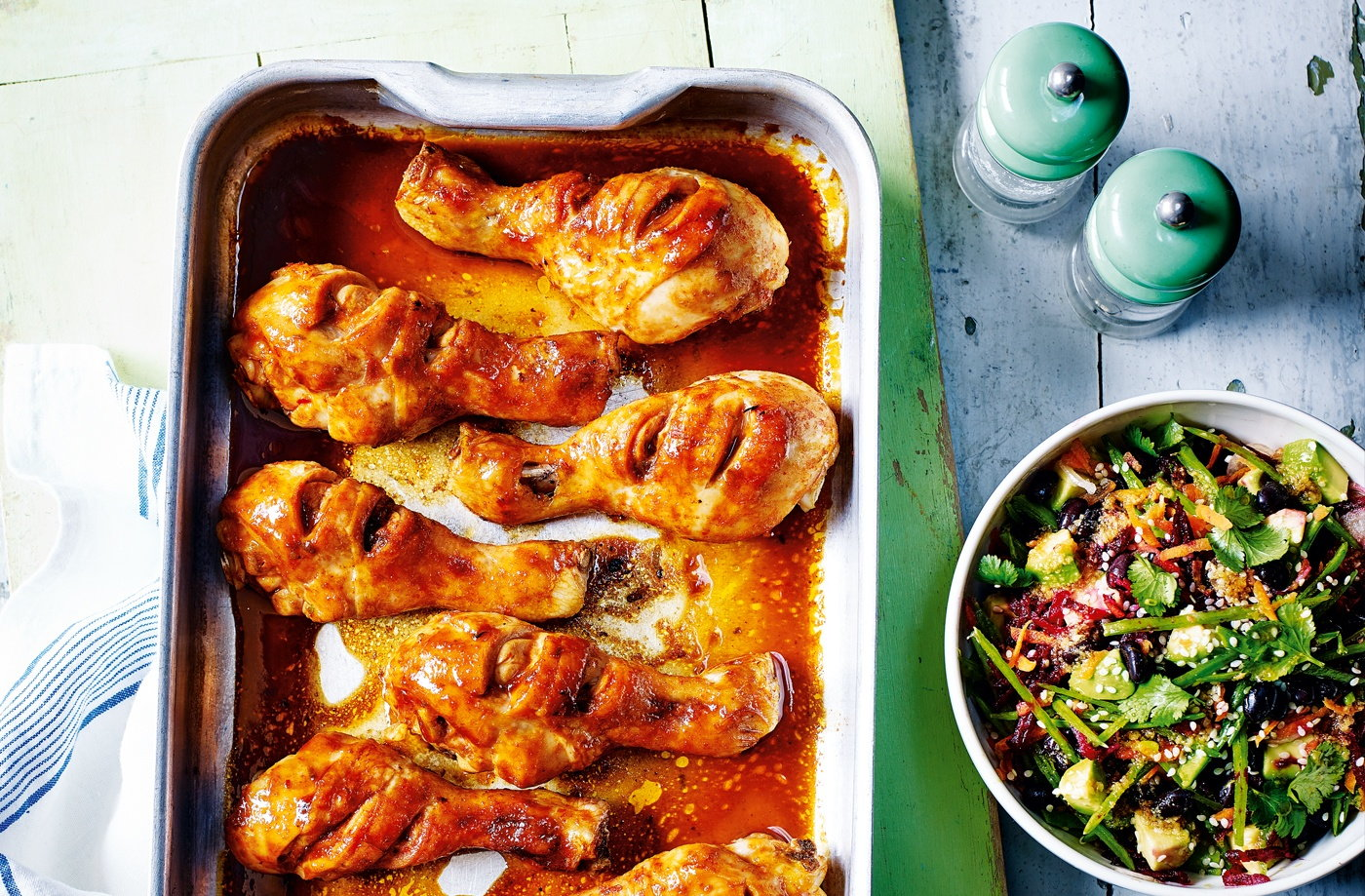 sriracha chicken with beetroot avocado and black bean salad tesco