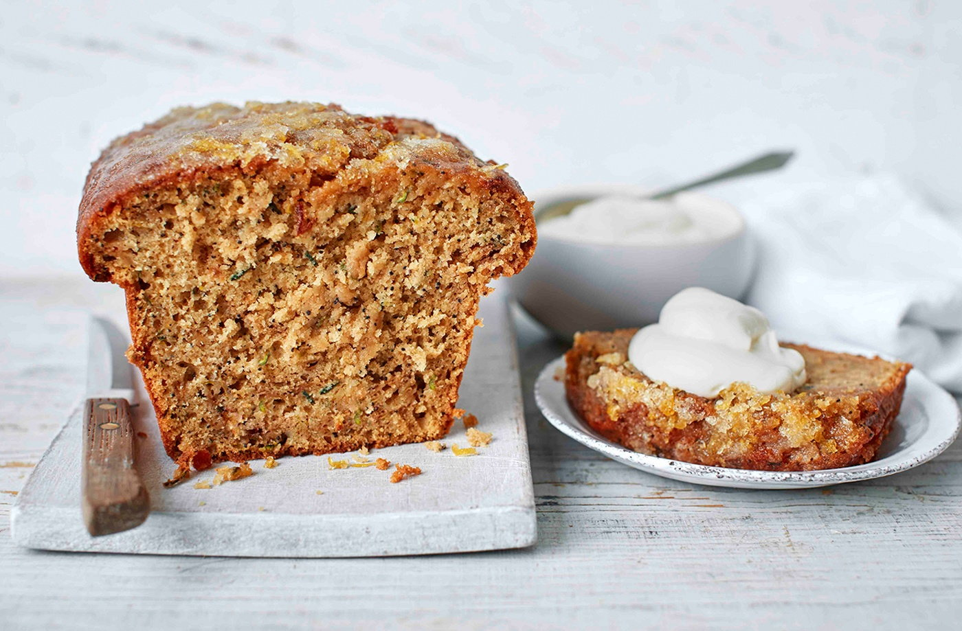 Courgette, lemon and poppy seed cake recipe