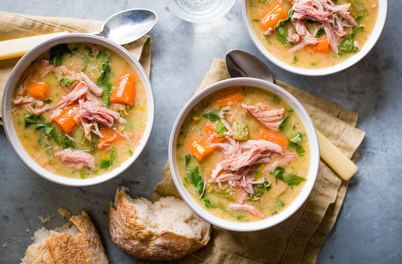 Smoked ham and lentil soup recipe
