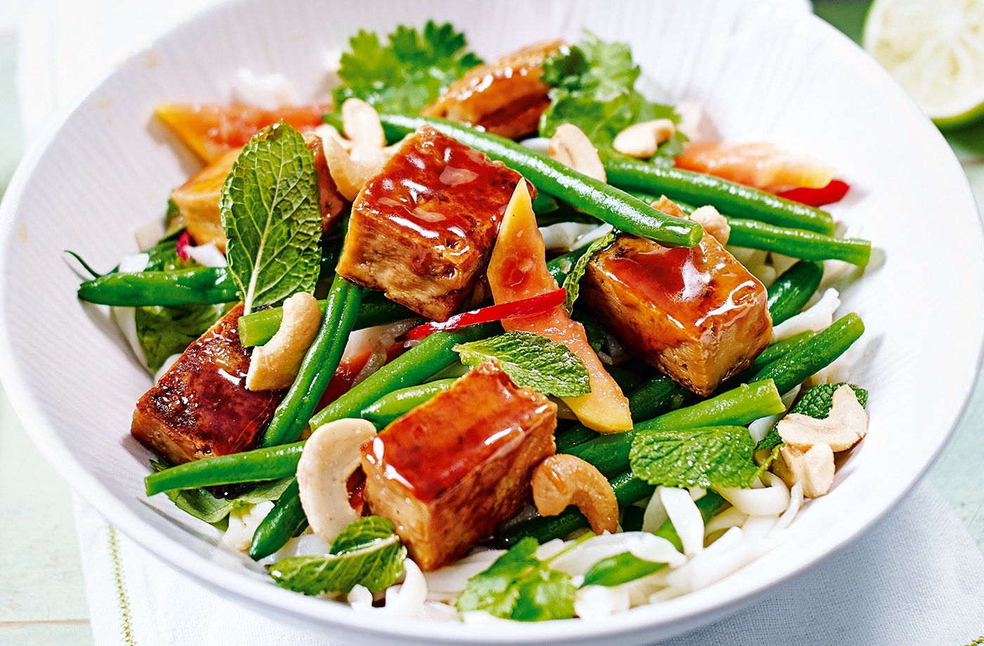 Sticky tofu and papaya salad dinner ideas for two for Salas ideas