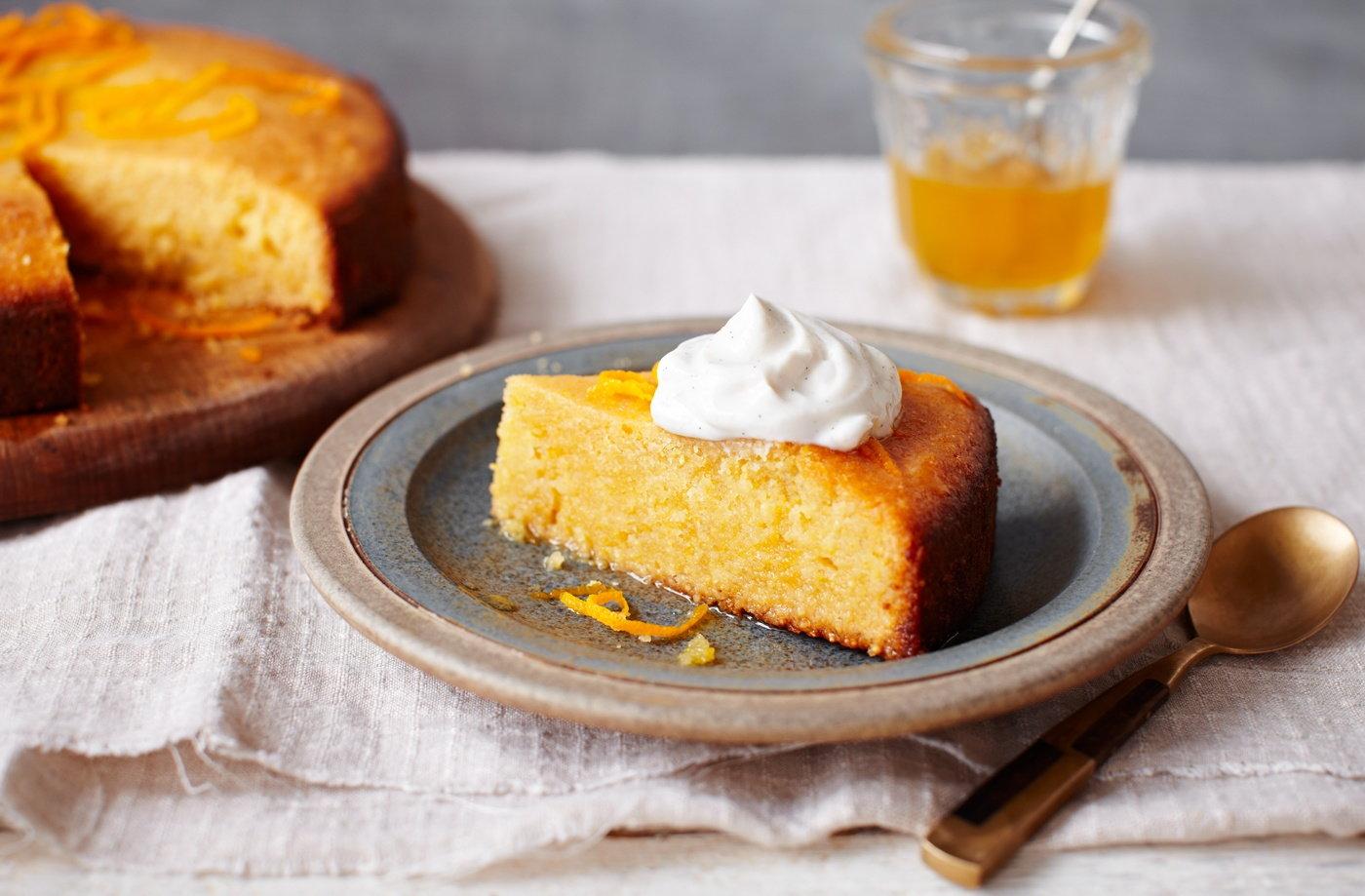 orange polenta cake polenta recipes tesco real food