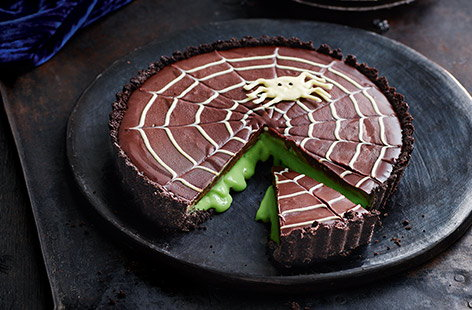 Vanessa's 'not so scary' chocolate slime tart