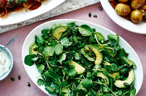 Avocado and pea salad