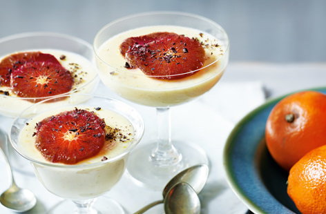 Blood orange possets