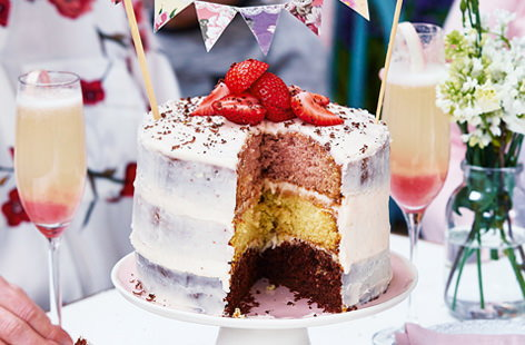 Neapolitan layer cake