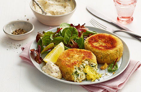 Jane's fishcakes 'for two, or one'