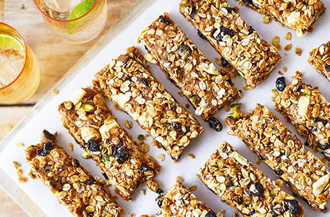 Perfect for those grab-and-go mornings, our no-bake granola bars are a fantastic breakfast snack to keep you going until lunch.