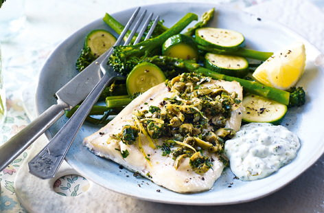 Haddock with parsley gremolata