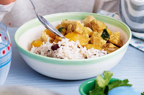 Caribbean turkey curry