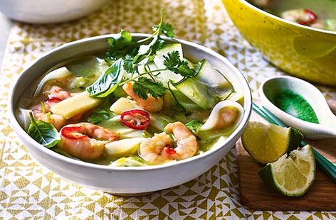 Dish up a warming bowl of this easy noodle soup for a taste of Malaysia